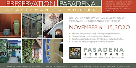 Preservation Pasadena: Craftsman to Modern tickets
