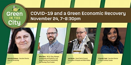 Green in the City: COVID-19 and a Green Economic Recovery tickets