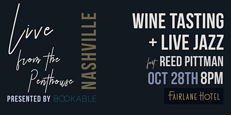 Live from the Penthouse | Live Jazz + Wine Tasting | Outdoors + Distanced tickets