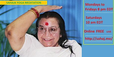 FREE Meditation - Daily Online Guided Sahaja Yoga sessions tickets