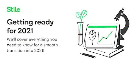'Getting ready for 2021' webinar tickets