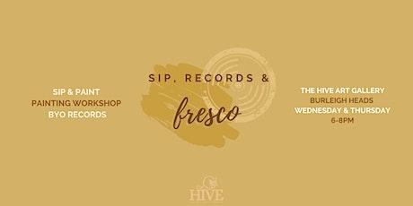 Sip, Records & Fresco | Paint Your Favourite Album Art Workshop tickets