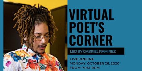 Virtual Poet's Corner: Live with Gabriel Ramirez tickets