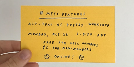 #MESCFeatures: Alt-Text as Poetry Workshop tickets