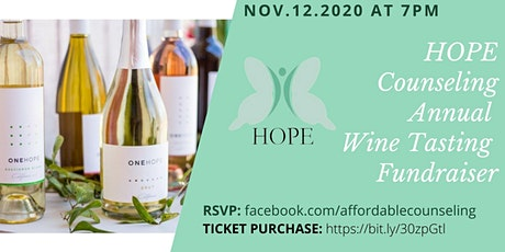 HOPE Counseling  Wine Tasting Fundraiser tickets