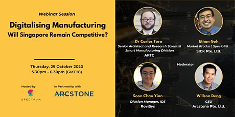 Digitalising Manufacturing - Will Singapore Remain Competitive? tickets