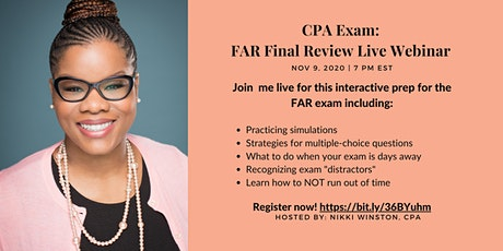 CPA Exam: FAR Final Review Live Workshop Tickets