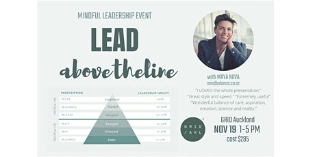 Leading Above the Line - Mindful Leadership event tickets