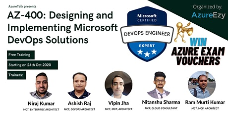 [Webinar]Designing and Implementing Microsoft DevOps (AZ-400) Free Training tickets