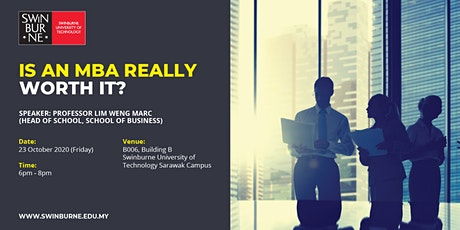 Is an MBA really worth it? tickets