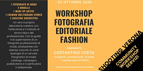 WORKSHOP DI FOTOGRAFIA EDITORIALE FASHION biglietti