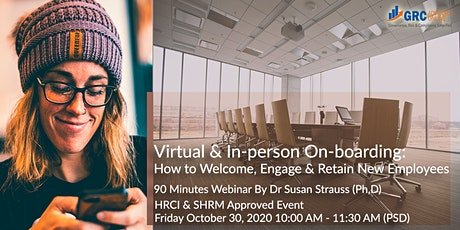 Virtual & In-person On-boarding How to Welcome, En tickets