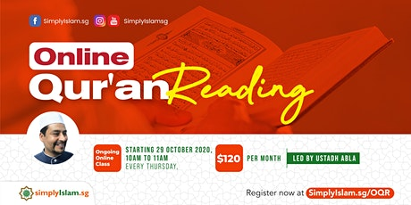 Online Qur'an Reading tickets