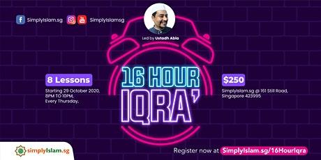 16 Hour Iqra' tickets