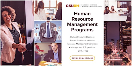 Info Sessions: Human Resources Management Programs | Webinar (1/20/21) tickets