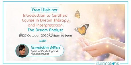 Free Webinar! Introduction To Certified Course In Dream Therapy tickets