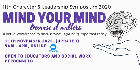 Mind Your Mind: 11th Character & Leadership Symposium 2020 tickets