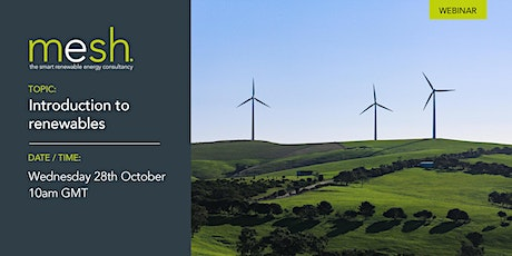 Mesh Energy webinar CPD introduction to renewables