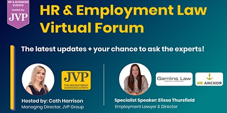 HR & Employment Law Virtual Forum – Updates and Q&A tickets