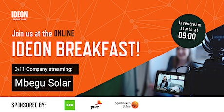 Ideon Breakfast Online with Mbegu Solar tickets