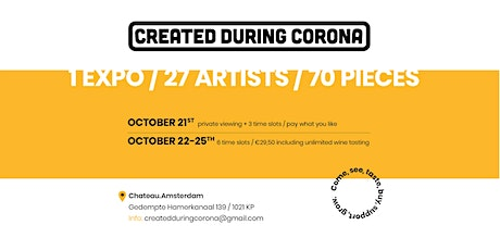 Created During Corona: 71 art pieces, 27 artists, 1 expo. tickets