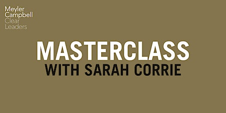 Masterclass with Sarah Corrie tickets