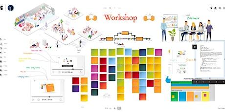 Wie nutze ich ein Online-Whiteboard für einen Workshop? Tickets