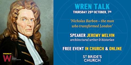 Wren Talk 2020: Jeremy Melvin - Online & In Church tickets