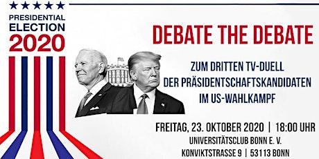 Debate the Debate: 3. TV-Duell der US-Präsidentschaftskandidaten