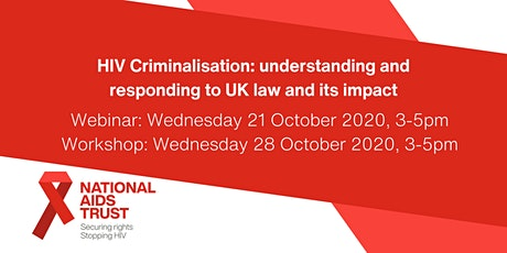 Webinar: understanding HIV criminalisation in the UK tickets
