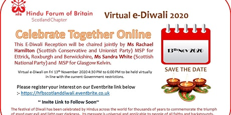HFB Scotland e-Diwali Celebration tickets