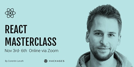 React Masterclass with ES6+ /online via Zoom tickets