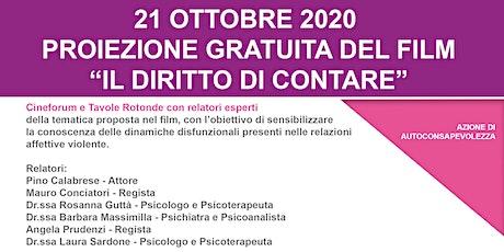 CINEFORUM - IL DIRITTO DI CONTARE - PROGETTO ANTERA biglietti