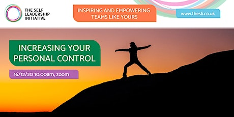Increasing Your Personal Control tickets