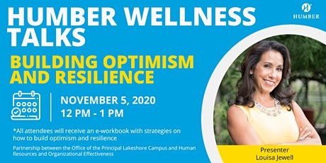 Principal's Office Wellness Talk Series - Optimism and Resilience tickets