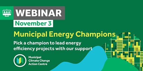 How to apply for the Municipal Energy Champions Program tickets