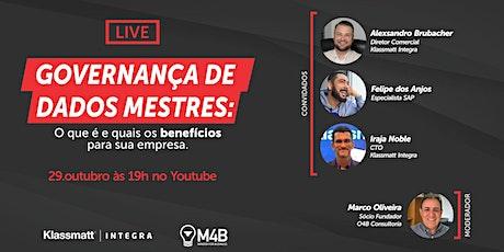 [Live] Governança de Dados Mestres (29/10 às 19h00) ingressos