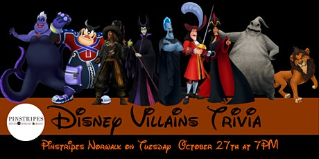 Disney Villains Trivia at Pinstripes Norwalk tickets