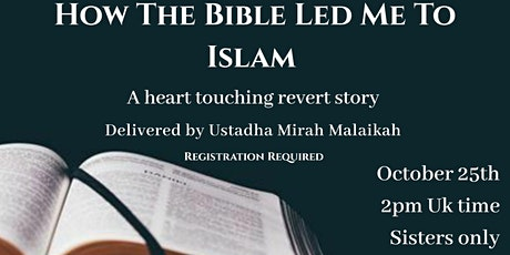 How the Bible led me to Islam tickets