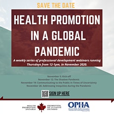 Health Promotion in A Global Pandemic tickets