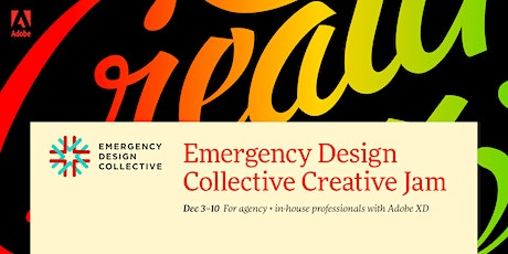 Professional + Emergency Design Collective Creative Jam LIVE with Adobe XD tickets