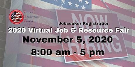 VEC's Annual (VIRTUAL) Job & Resource Fair - OPEN TO THE PUBLIC - Nov 5 tickets