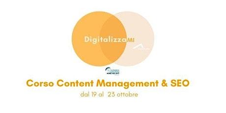 Corsi DigitalizzaMI - Corso Content Management & SEO biglietti