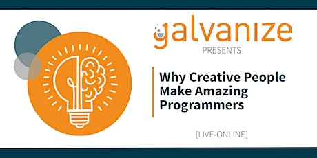 Why Creative People Make Amazing Programmers [LIVE ONLINE] tickets