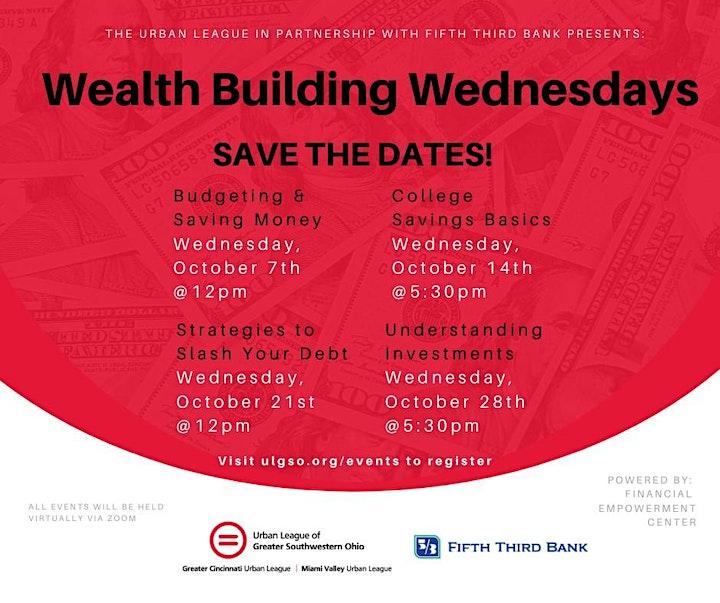 Wealth Building Wednesdays Workshop Series image