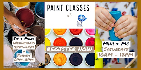 Mini & Me Paint Classes at The Blu Rose Art Bistro tickets