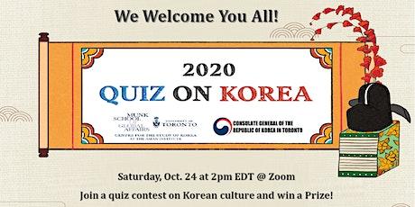 Korea Week 2020: Quiz on Korea tickets