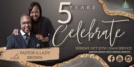 Pastor and Lady Brown's 5th Anniversary tickets