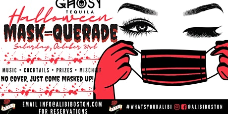 Halloween Mask-querade at Alibi Bar & Lounge! tickets