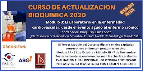 Curso de Actualizacion Bioquimica 2020 - Modulo 3 (31/10 y 7/11) entradas